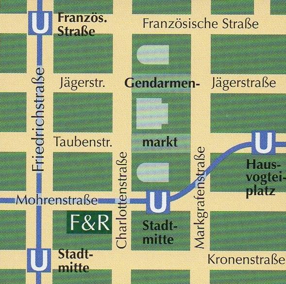 mapa Fassbender & Rausch Berlim