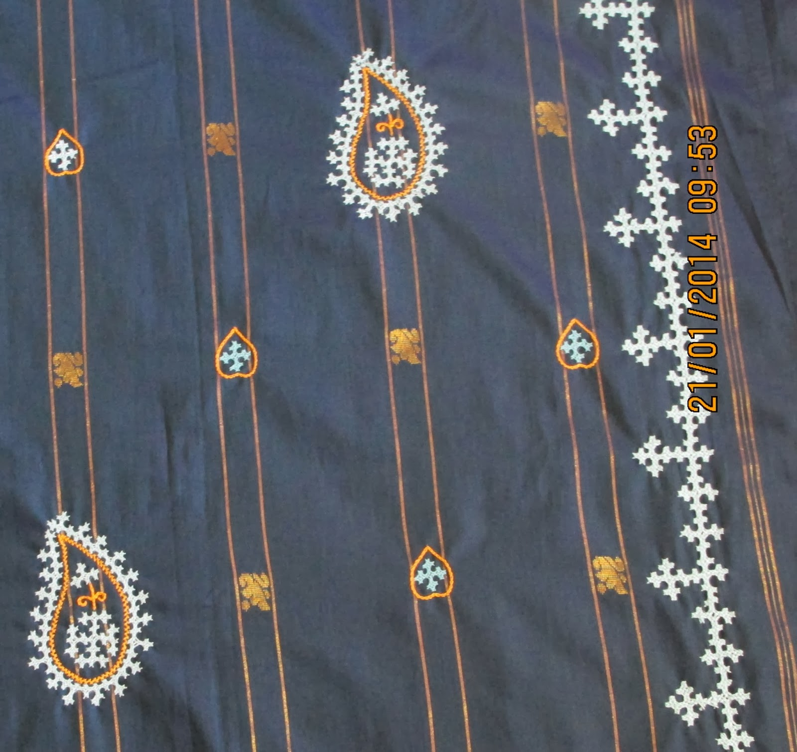 My Craft Works Kutch Work Saree Completed