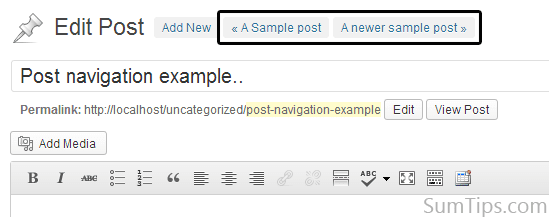 Get Links to Next and Previous Posts in WordPress Post Editor