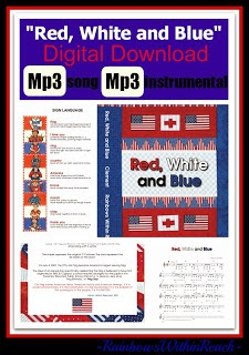 """Red, White and Blue"" in digital download format from Debbie Clement"