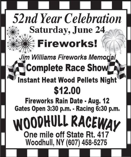 6-24 Woodhull Raceway 52nd Year Celebration