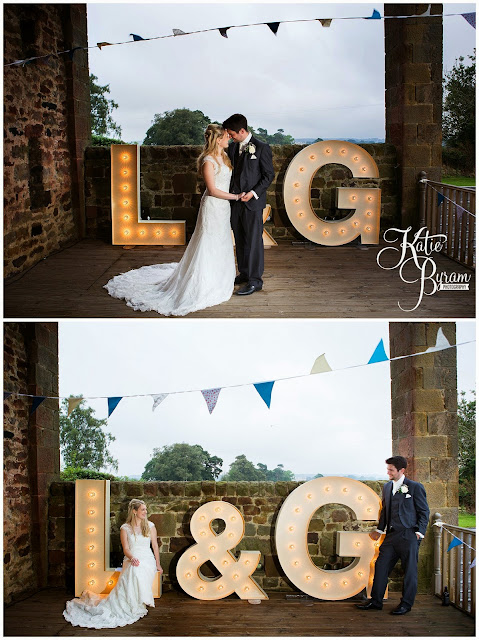 coco luminaire, light up letters, rainy wedding, high house farm brewery, northumberland, high house farm wedding, katie byram photography, healey barn, newcastle wedding photographer, coco luminaire