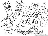 Mewarnai Aneka Macam Sayuran