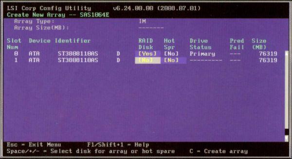Configurar RAID RMS25KB080 (Kohala Beach)