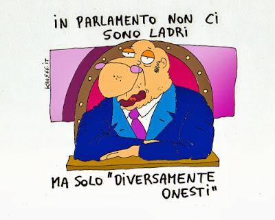 vignetta: ladri in parlamento