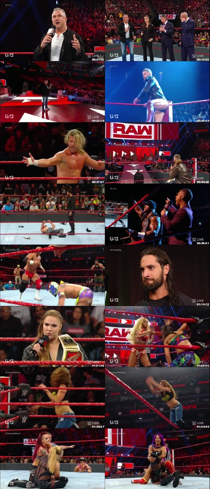 Screen Shot Of Wrestling TV Show WWE Monday Night Raw 17th December Watch Online Free Download