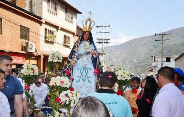 Trujillanos veneraron a la Virgen de La Paz