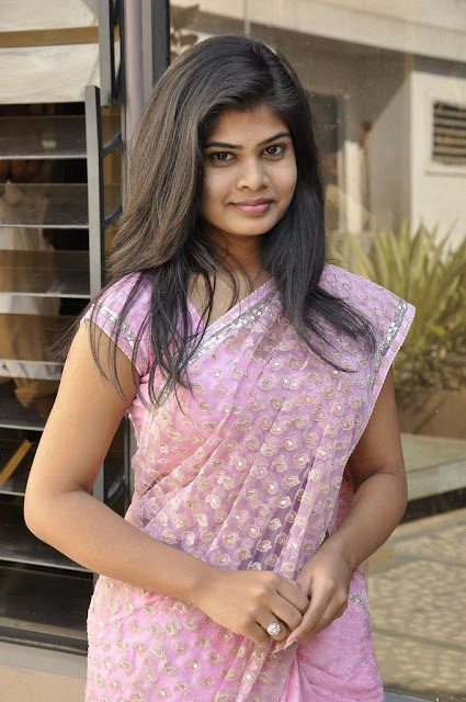 alekhya in saree hot pics At Kothaga Movie Press Meet 9 South Actress Alekhya Gorgeous Photos in Saree