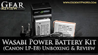 Wasabi Power Battery & Charger Kit (Canon LP-E8) Unboxing & Review | Gear Review