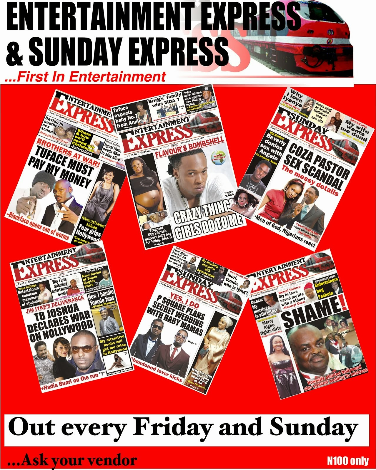 Entertainment Express & Sunday Express