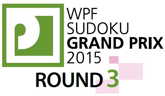 WPF Sudoku Grand Prix 2015 Round 3