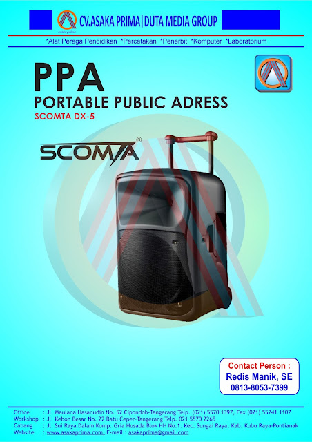 PORTABLE PUBLIC ADDRESS (PPA ) BKKbN 2016 , Public Address BKKBN scomta ,dak bkkbn 2016