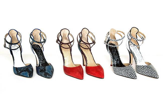 Sara Melissa Designs, handmade shoes, snake print shoes