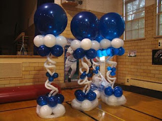 balon standing biru