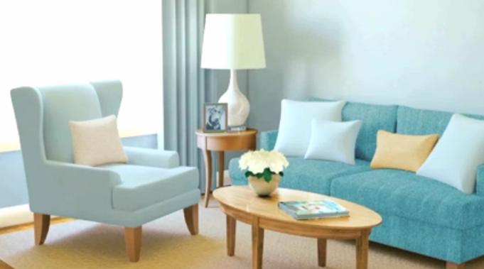 Inrichting Kleuren Woonkamer: Blauwe kleuren werken verfrissend in ...