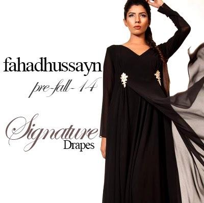 Fahad Hussayn Couture Signature Drapes Pre-fall 2014