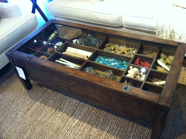 Coffee Table Like A Shadow Box To Show Off Your Collections Pictures