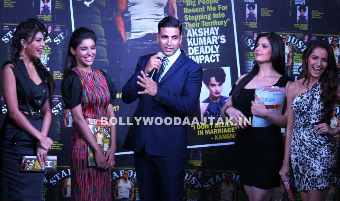 , Asin, Zarine Khan And Shazahn At Stardust Magazine Launch
