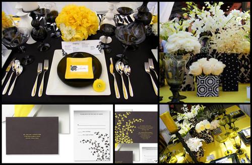 decoracao amarelo branco e preto:Nosso Dia Branco: Decoração – Preto, branco e amarelo