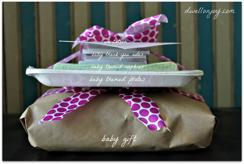 an unconventional baby shower - dwell on joy, Baby shower invitations