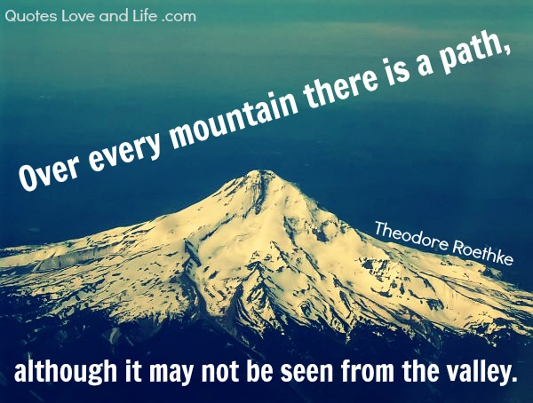 above the mountain quotes quotesgram
