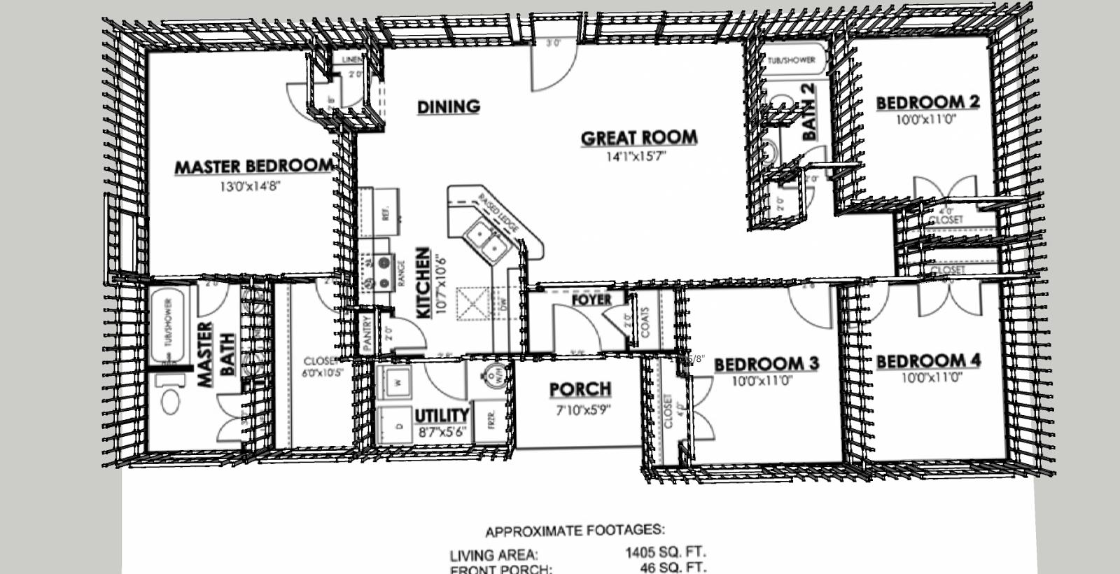Plan De Maison Facile Vue Simple Plan 2d Facile 10