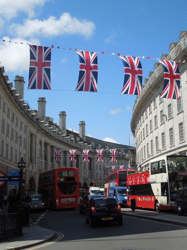 Diamond Jubilee Union Jacks Regent St London