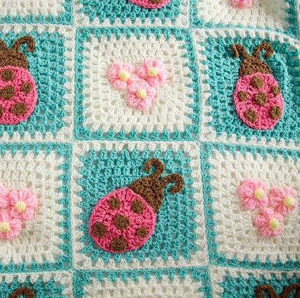 Bugs and Blooms Blanket - Free Pattern