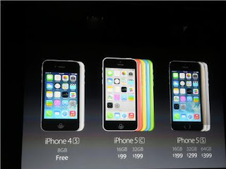 Iphone 5s/5c price with and without contract: announcement at