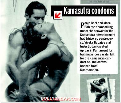 Pooja bedi in kamasutra condoms ad