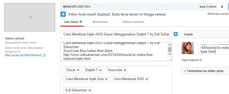 Cara Membuat Injek Axis+ Dasar Menggunakan Delphi 7