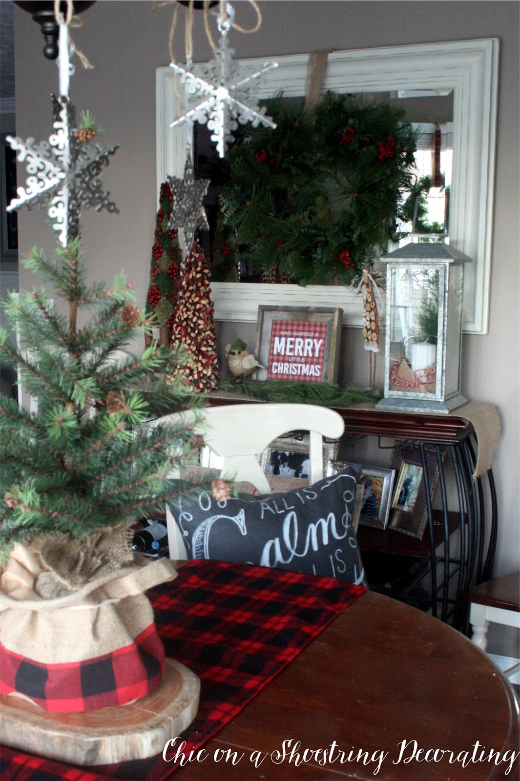 Chic on a Shoestring Decorating Farmhouse Christmas Decor Merry & Brigh