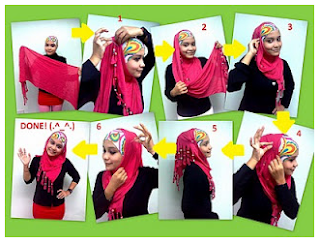 model jilbab pashmina satin