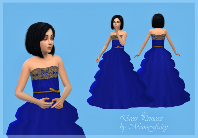My Sims 4 Blog Princess Dress For Girls By Moonfairy