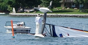 How to Right a Capsized Catamaran: