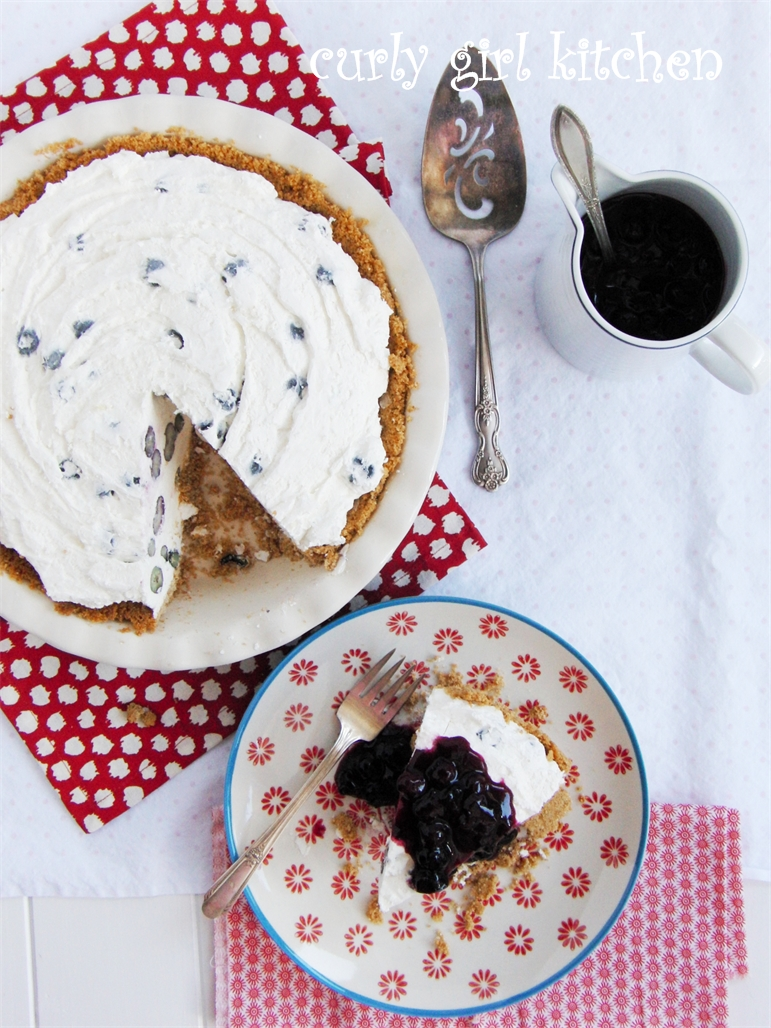 Curly Girl Kitchen: Blueberry Cheesecake Ice Cream Pie