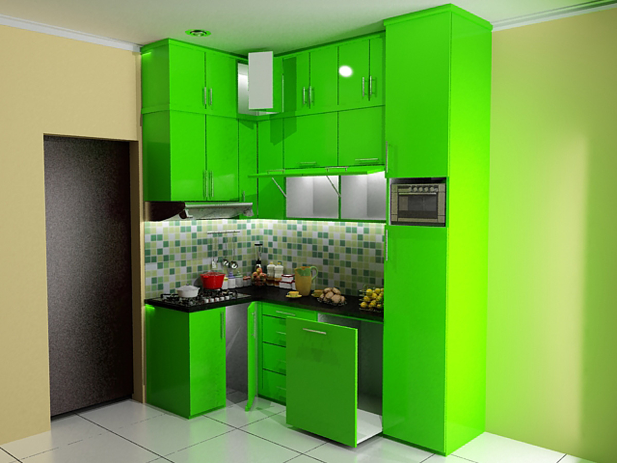 Interior of a 30sqm 320sqft 2 bedroom apartment in for Kitchen set apartemen
