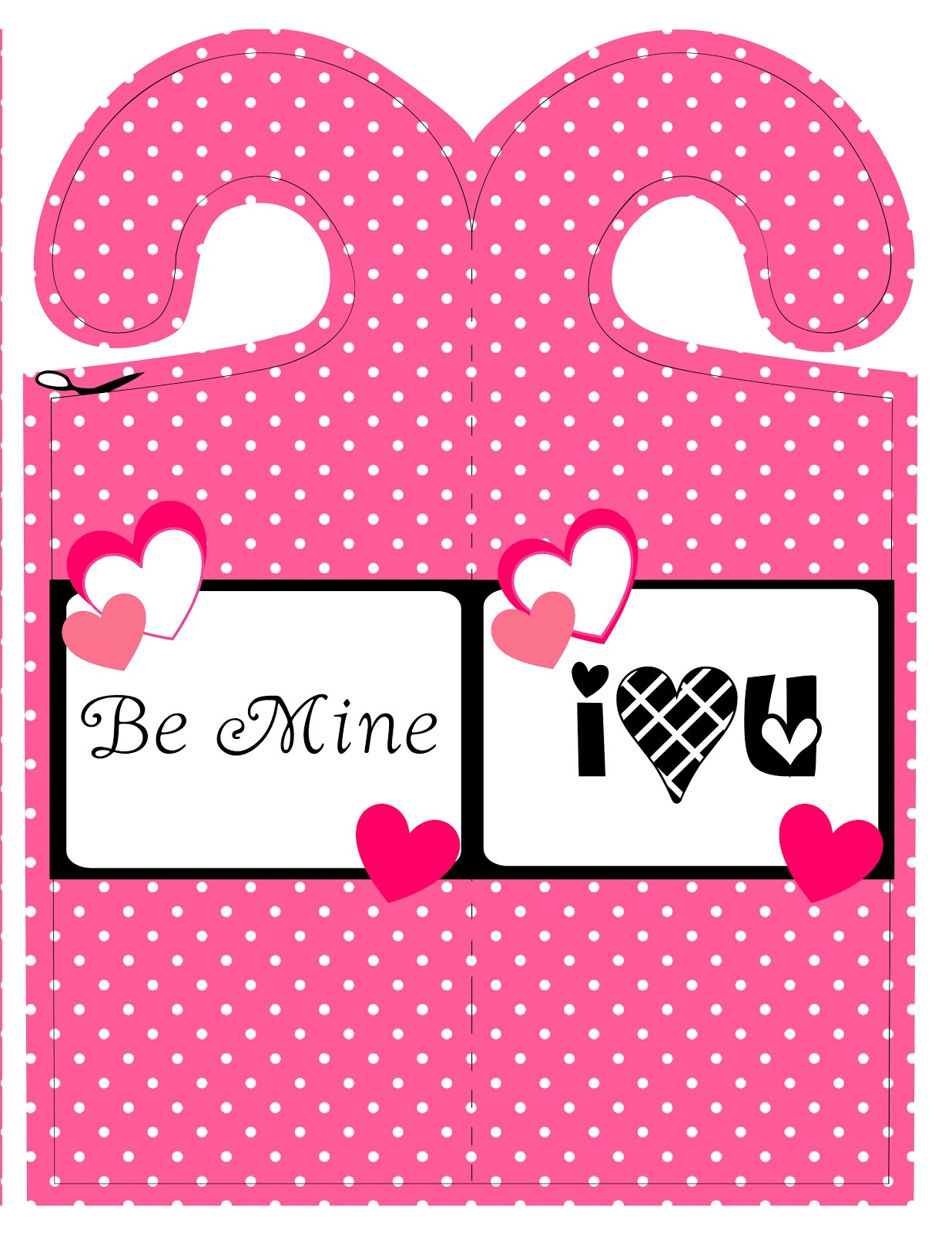 ... Valentine door hanger printables. I just love all the pink and black colors. Have some freebies if you like. Just right click and save as.  sc 1 st  ScrapNteach2 - Blogger & ScrapNteach2: Valentine Door Hanger (free printables)