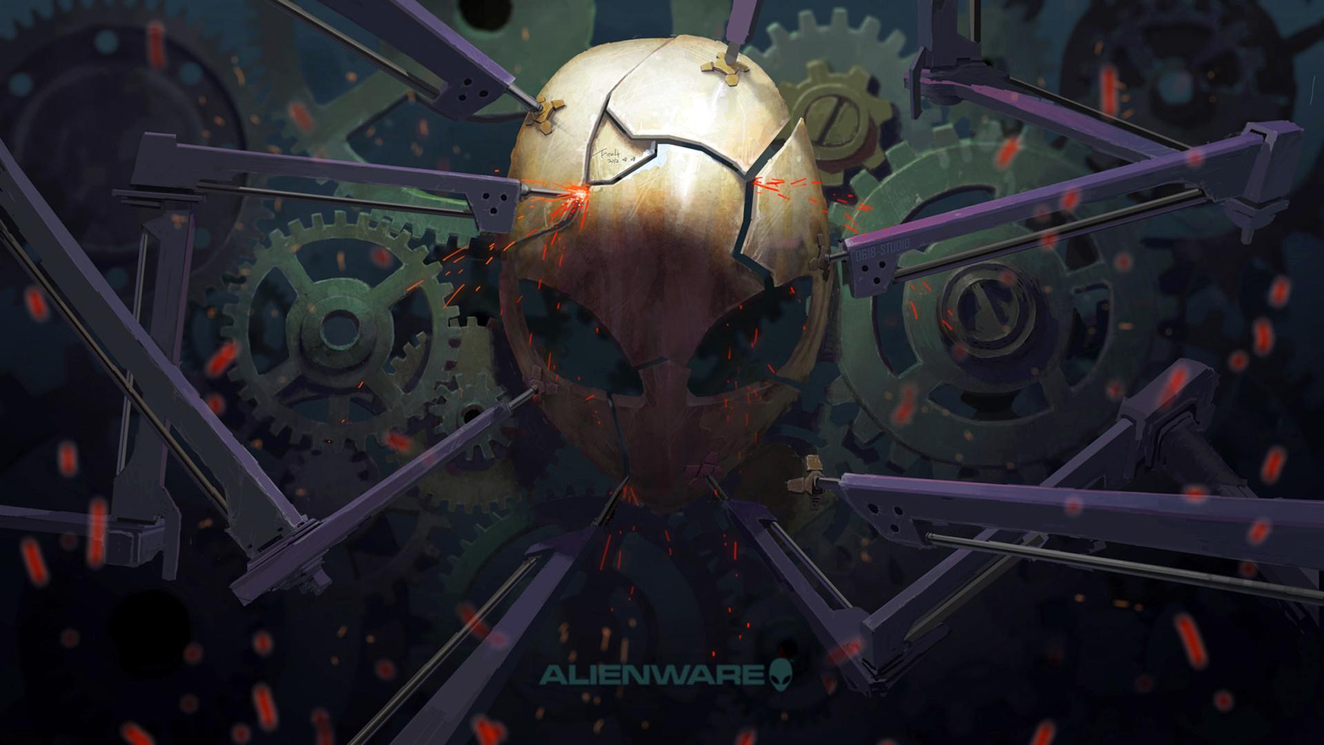 Alienware broken mask 43 wallpaper hd alienware broken mask cool logo voltagebd Images