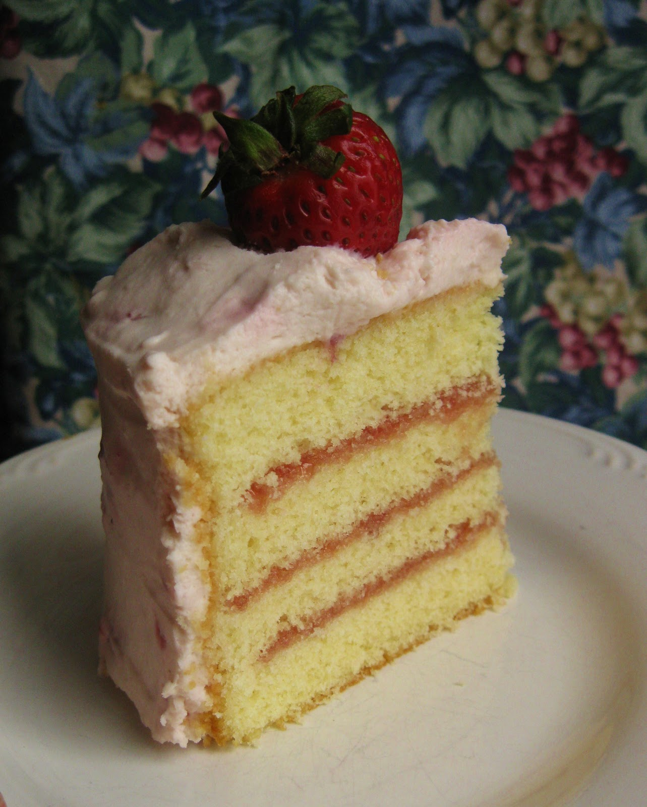 Baking Outside the Box: Buttermilk Cake with Strawberry Whipped Cream