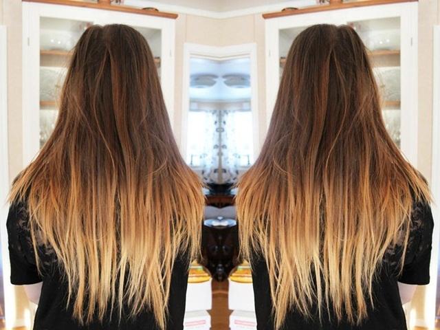 farvede hår