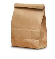 Brown paper food bags