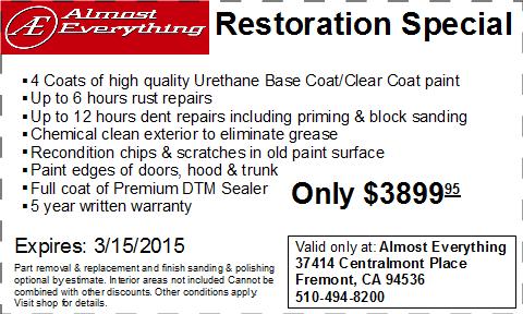 Coupon Auto Restoration Special February 2015