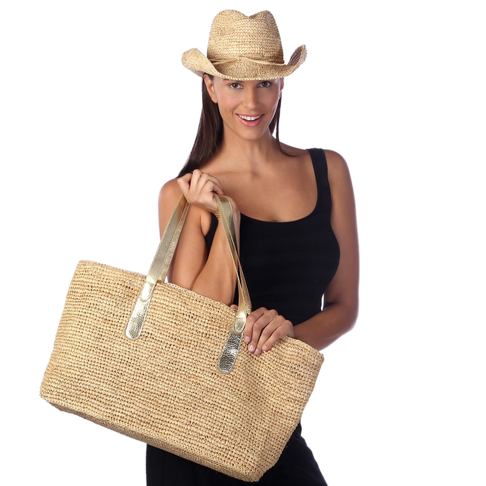 Grand Cayman Raffia Tote Bag