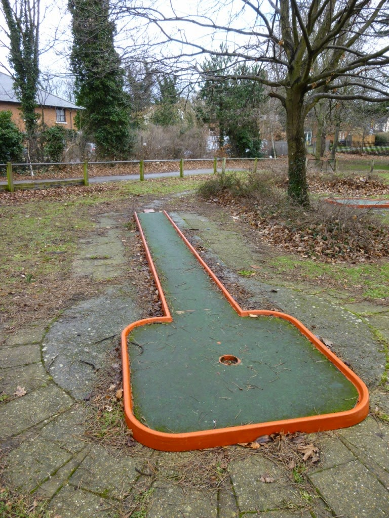 Crazy Golf course at Woodlands Park in Gravesend, Kent