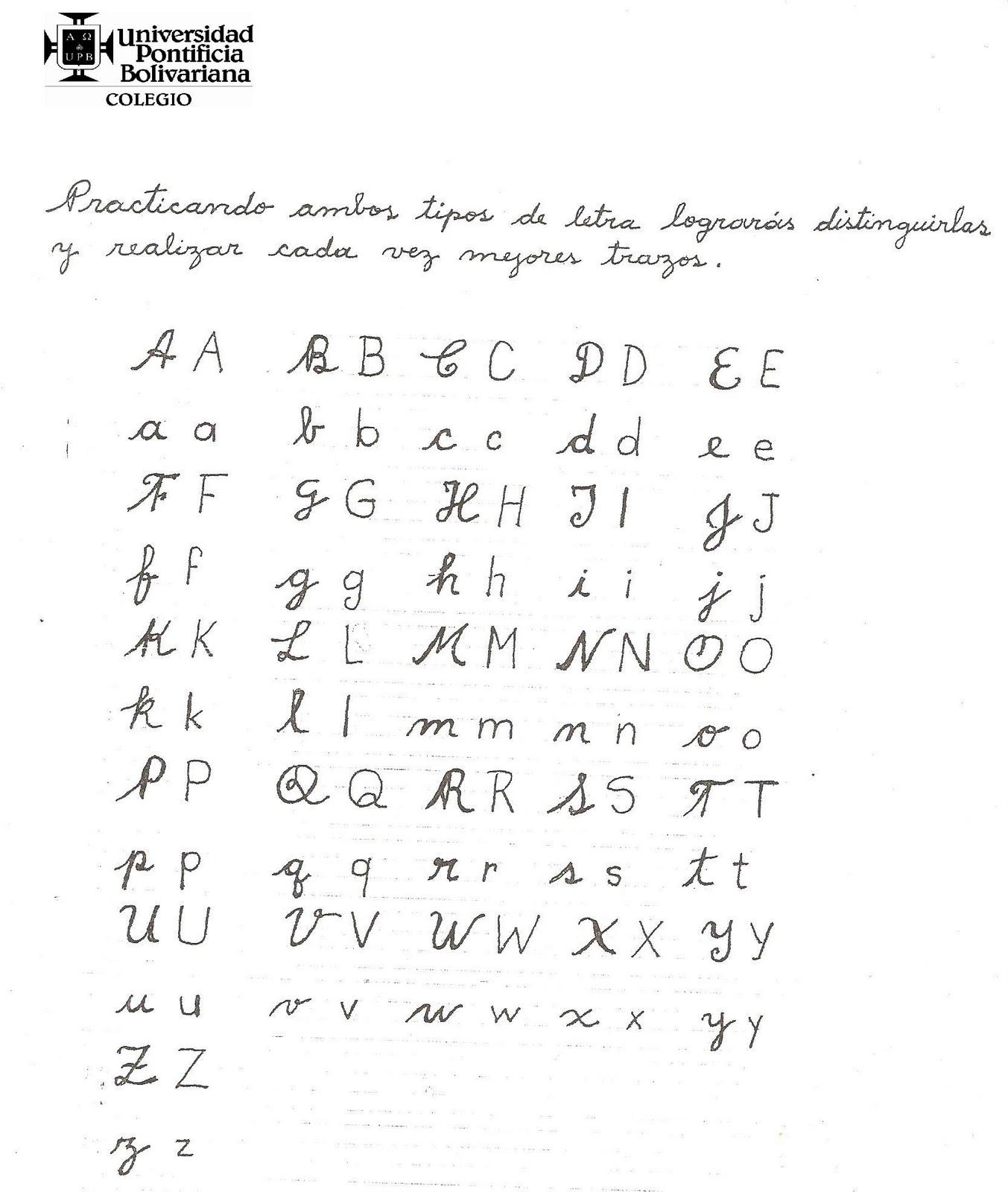 La Letra May  Scula Y Min  Scula Del Modelo Script Y Cursiva