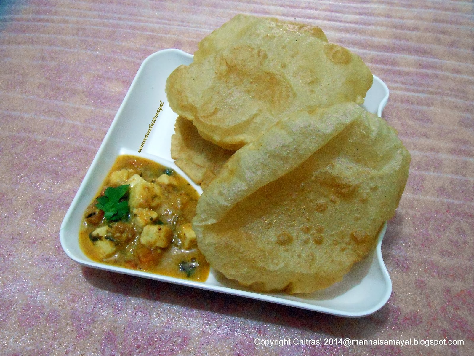 Poori with Paneer Butter Masala