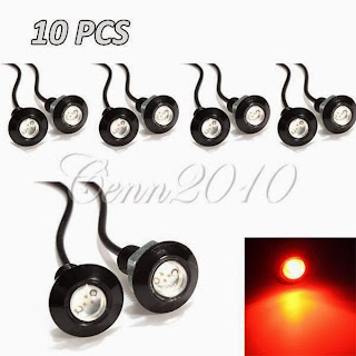 10x 3W LED Eagle Eye Red Light Daytime Running DRL Tail Backup Light Car Motor