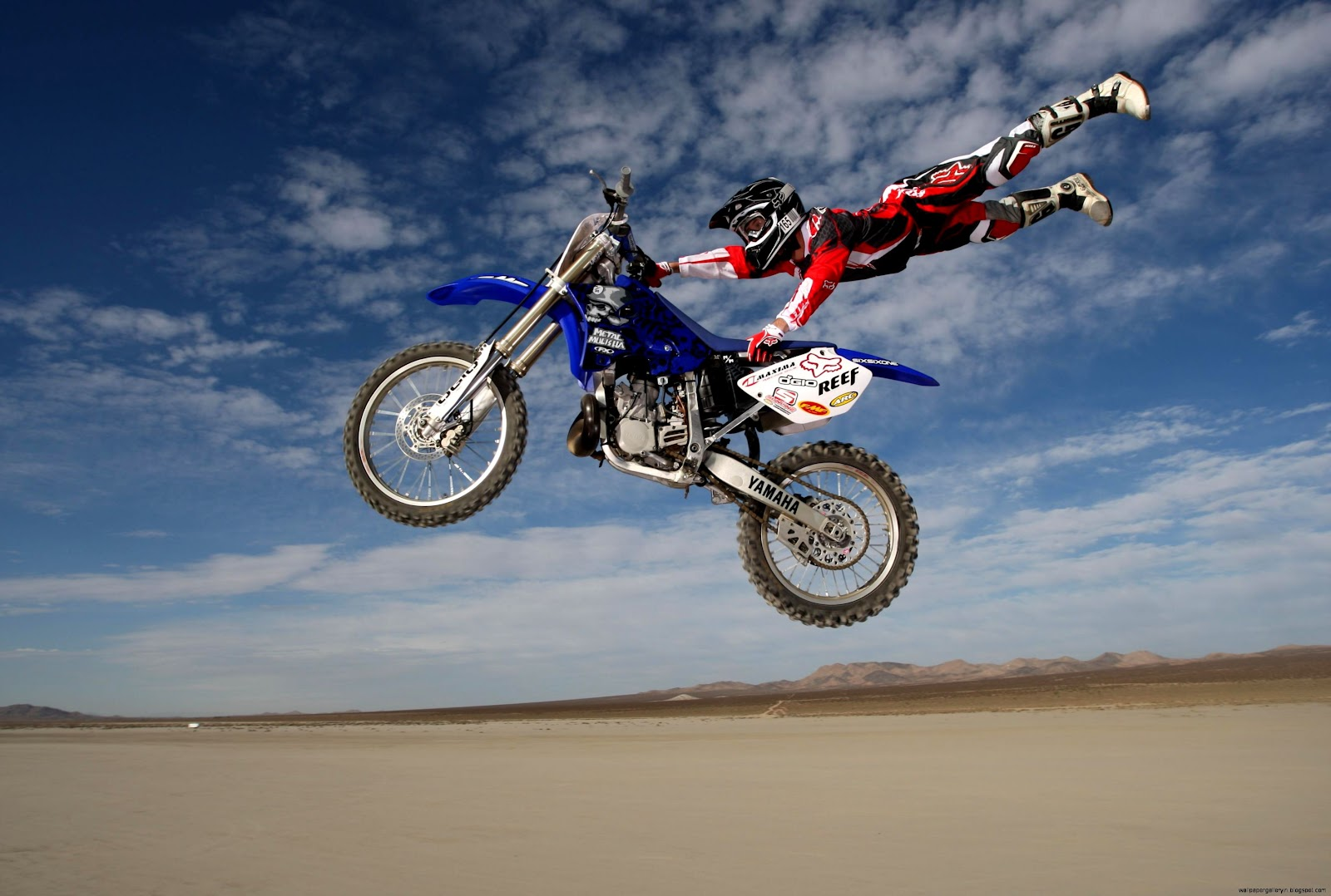 motocross flying rider hd wallpaper widescreen wallpaper