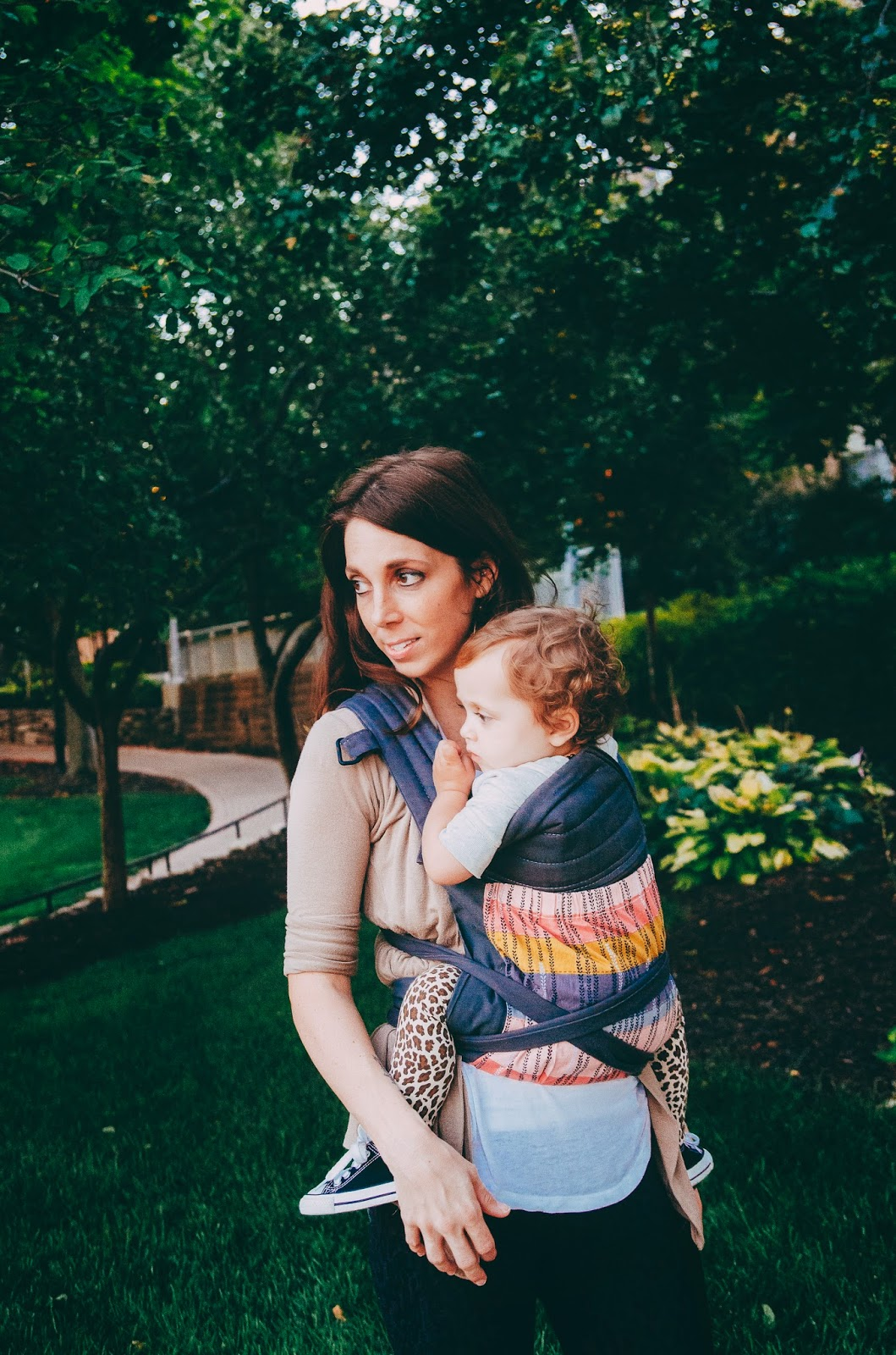 babywearing at natural light indianapolis family session